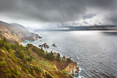 Pacific coast in Big Sur Stock Image
