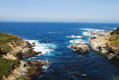 Pacific Coast, CA. One of the many gorgeous overlooks along the Pacific Coast Highway, CA royalty free stock image