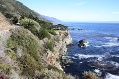 The Pacific Coast in California, USA Royalty Free Stock Photos