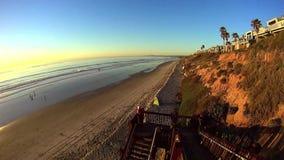 Pacific Coast Encinitas California stock video