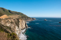 Pacific Coast Highway. Big Sur, driving back from SF to LA Stock Photo