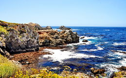 The Pacific Coast Highway in California Royalty Free Stock Photos