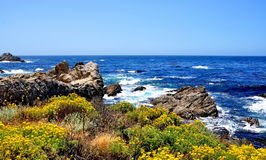 The Pacific Coast Highway in California Royalty Free Stock Photo
