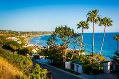 Άποψη του Pacific Coast, σε Malibu, Καλιφόρνια Στοκ εικόνες με δικαίωμα ελεύθερης χρήσης