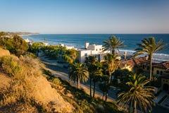 Άποψη των σπιτιών και του Pacific Coast, σε Malibu, Καλιφόρνια Στοκ Εικόνα