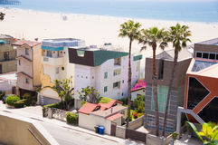 Pacific Coast in Santa Monica. Los Angeles royalty free stock photography