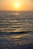 Pacific Coast sunset. Sun setting over the Pacific, off California coast Stock Photography