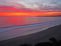 Pacific Coast Sunset Royalty Free Stock Photo