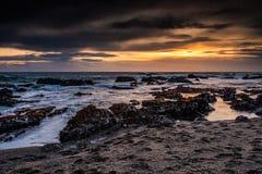 Pacific Coast Sunset Royalty Free Stock Photos