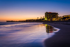 The Pacific Coast at sunset, in Ventura, California. Royalty Free Stock Photos