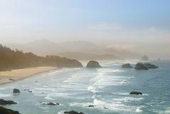 The Pacific coast. USA. Oregon. Fog Stock Photo