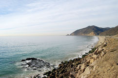 Pacific Coast View. The California coastline north of Malibu and along the Pacific Coast Highway Stock Images