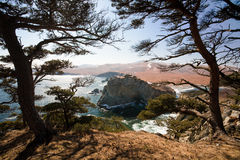 Pacific coast (winter) Royalty Free Stock Photography