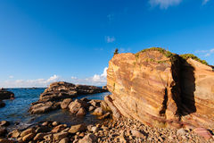 Pacific coastline along north east taiwan Stock Images