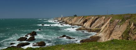 Pacific coasts Impressions of Point Arena Light, California USA Stock Photography