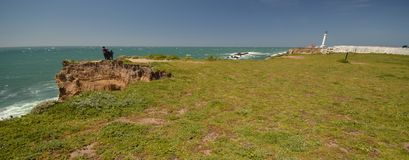 Pacific coasts Impressions of Point Arena Light, California USA Royalty Free Stock Photo