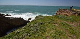 Pacific coasts Impressions of Point Arena Light, California USA stock image