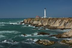 Pacific coasts Impressions of Point Arena Light, California USA. Pacific coasts Impressions of Point Arena Light from April 28, 2017, California USA royalty free stock photography