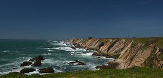 Pacific coasts Impressions of Point Arena Light, California USA Royalty Free Stock Images