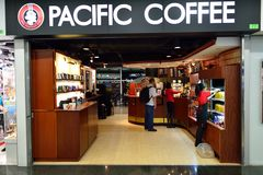 Pacific Coffee cafe interior Stock Photos