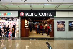 Pacific Coffee cafe interior Royalty Free Stock Photos