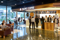 Pacific Coffee cafe interior Stock Images
