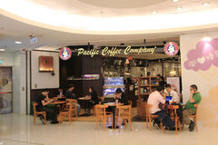 Pacific coffee company in hong kong Stock Photos