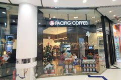Pacific coffee in hong kong Stock Photography