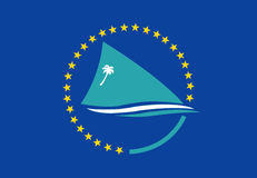 Pacific Community flag Stock Photo