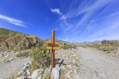 Pacific Crest Trail. Changeling trail - Pacific Crest Trail at Whitewater Preserve Stock Image
