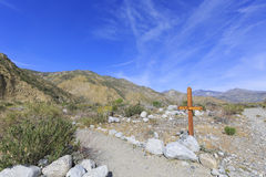 Pacific Crest Trail. Changeling trail - Pacific Crest Trail at Whitewater Preserve Royalty Free Stock Photography