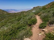 Pacific Crest Trail. The famed Pacific Crest Trail on Mt Laguna in San Diego County, California Stock Photo