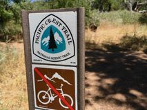 Pacific Crest Trail Marker Stock Images
