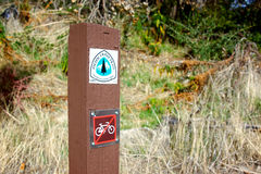 Pacific Crest Trail Marker Royalty Free Stock Photo
