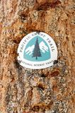 Pacific Crest Trail PCT Marker Stock Image