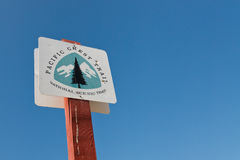Pacific Crest Trail Sign Stock Photography