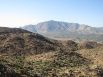 Pacific Crest Trail, Southern California. Pacific Crest Trail desert landscape Royalty Free Stock Photo
