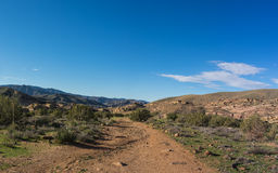 Pacific Crest Trail in southern California. Hiking trail in southern California is a portion Pacific Crest Trail Stock Photography