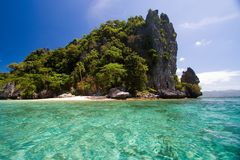 Pacific desert island stock photo