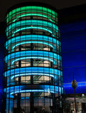 Pacific design center at night. Royalty Free Stock Image
