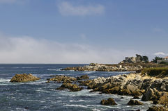 Pacific Grove coastal vista. Shoreline along Pacific Grove North California coast royalty free stock images
