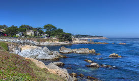 Pacific Grove View. Seaside View of Ocean at Pacific Grove, California stock photo
