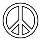 Pacific international peace symbol vector pacific disarmament sign, anti-war movement, contour icon. Pacific international peace symbol, vector pacific stock illustration