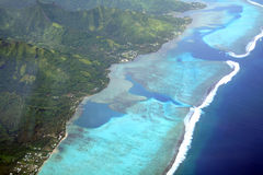 Pacific Island Lagoon Stock Images