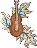 PACIFIC ISLAND LEAF GUITAR Royalty Free Stock Photography
