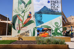 Pacific islands  pavilion Milan,milano expo 2015 Stock Photography