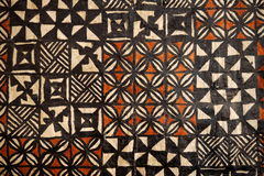 Pacific Islands: tapa cloth geometric designs. Pacific Islands Polynesian native craft tapa cloth Royalty Free Stock Photography