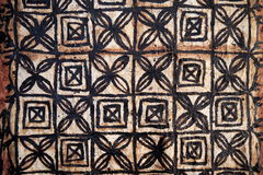 Pacific Islands: tapa cloth squares design. Pacific Islands Polynesian native craft tapa cloth with squares pattern Royalty Free Stock Photography