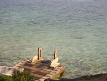 Pacific. A little shore at the atlantic, Roatan Royalty Free Stock Photo
