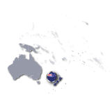 Pacific map with New Zealand Royalty Free Stock Image